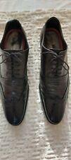 Men's Spencer Jones Black Leather Shoes Size Uk 10