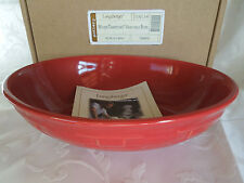 LONGABERGER~WOVEN TRADITIONS POTTERY~VEGETABLE SERVING BOWL~TOMATO~BRAND NEW!