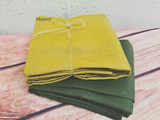 Soft Linen Fabric Material - upholstery curtains -140cm wide - Plain Mustard