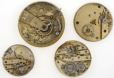 SWISS LEVER POCKET WATCH MOVEMENTS X4 SPARES & REPAIRS R209