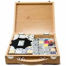 Mexican dominoes Double 12s in wooden case.