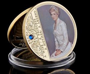 British Diana Princess Rose Coin Silver Gold Professional Commemorative Collect