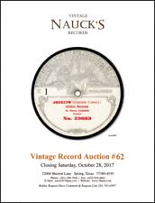 Vintage Record Auction Catalog (Latest or Current Issue)