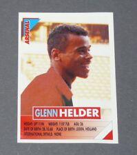 10 HELDER NEDERLAND ARSENAL GUNNERS PANINI FOOTBALL PREMIER LEAGUE 1995-1996