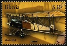 Royal Flying Corps (RFC) AVRO 504 WWI Biplane Fighter/Bomber Aircraft Stamp