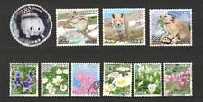 JAPAN 2018 NATURAL MONUMENTS SERIES 3RD ISSUE (DAISETSUYAMA) SET 10 STAMPS USED