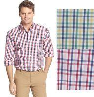Izod Mens Dress Shirt Classic Fit Plaid size 16-16.5 17-17.5 18-18.5 NEW