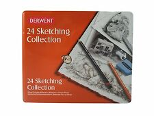 Derwent Sketching Collection Tin Set of 24 Drawing and Sketching
