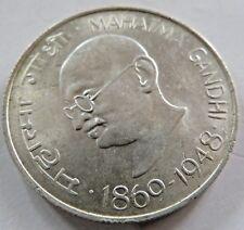 10 RUPEE MAHATMA GANDHI BIRTH Centennial 1869-1948 SILVER COIN Commemorative