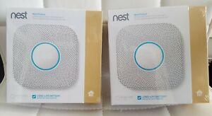2 pack Nest Protect Smoke & Carbon Monoxide Alarm model S3000BWES Wired 120V