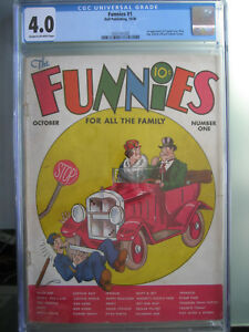 Funnies #1 CGC 4.0 Dell 1936 1st app Captain Easy, Alley Oop & Tailspin Tommy