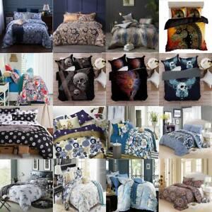 Quilt Duvet Doona Cover Set Queen/King Modern Pattern Printed Mr Cotton H1