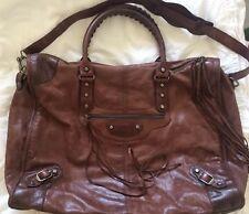 Balenciaga Large Weekender Bag Leather