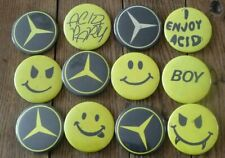 Lot 12 Badges New Beat Acid Smiley Mercedes Belgium