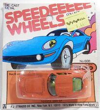 Vintage c.1975 Straco Speedee 1967-70 Toyota 2000GT Orange 1/64 Scale