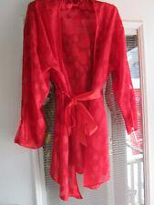 Fredericks of Hollywood XL Red Sheer Sweetheart Kimono