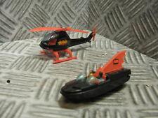 Corgi Jr. Husky Batman Hot Wheels Batcopter Helicopter & Batboat diecast