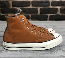 Men's Brown Leather Converse All Star Chuck Taylor High Tops 7.5 Or Womens 9.5