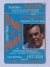 CALENDARIO TEATRO GOYA. PUNTO Y COMA. AÑO 1987.(Ver descripción estado)