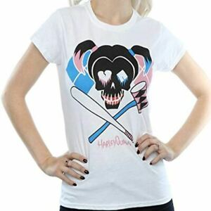 DC Comics Women's Suicide Squad Harley Quinn Skull T-shirt Official XX-Large