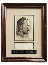 ADMIRAL RICHARD E BYRD SIGNED CUT FRAMED COLLAGE JSA COA AUTOGRAPH NAVY MILITARY