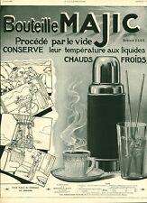 Publicité ancienne bouteille Majic 1909 issue magazine