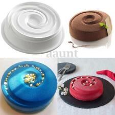Silicone Round Vortex Spiral Cake Chocolate Mold Decorating Pans Baking Tools
