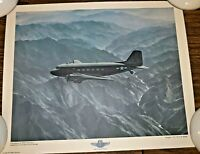 "1979 MPB CORP R.G SMITH SILVER WINGS SERIES PRINT - DOUGLAS C-47 ""OVER THE HUMP"""