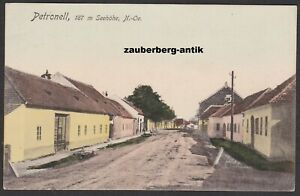 Petronell Straßenpartie 1924 Bezirk Bruck an der Leitha