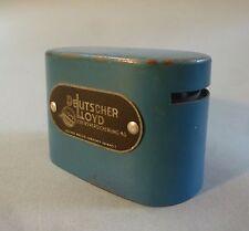 Spardose Sparbüchse Eisen lackiert blau Deutscher Lloyd um 1920