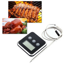 Digital Probe Food Cooking Timer Kitchen BBQ Oven Grill Meat Thermometer w Alert