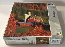 2010 Farm Buildings in Autumn SUMAC VERMONT Jigsaw PUZZLE NEW 1000pc SEALED