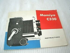 MAMIYA C330 MANUAL & INSTRUCTIONS
