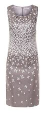 Jacques Vert Mother Of Bride Pewter Silver Shift Dress Size 12 BNWT Ascot