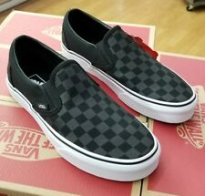 VANS CLASSIC SLIP ON CHECKERBOARD BLACK/BLACK  VN000EYE276 MEN US SZ 11