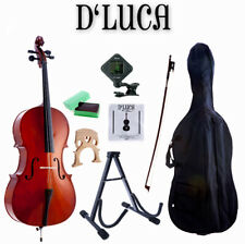 D'Luca Meister Student Cello 3/4 With Stand Bag Strings Tuner Rosin Bow
