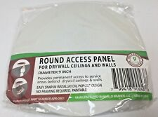 Wallo APR-0901 Round Access Panel 9-Inch Speaker Hole Cover Drywall Ceilings Wal