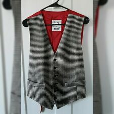 Moschino CHEAP AND CHIC Houndstooth Waistcoat Size 44
