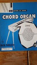 a selection of songs chord organ