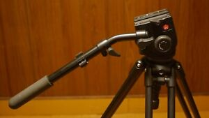 Manfrotto 351MVB2 Tripod with 503 Fluid Head Excellent Condition