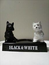Vintage Black & White Scotch Whiskey Advertising Display, Scottie Dogs