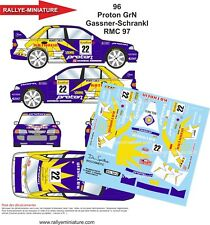 DECALS 1/18 REF 96 MITSUBISHI LANCER GASSNER RALLYE MONTE CARLO 1997 RALLY WRC