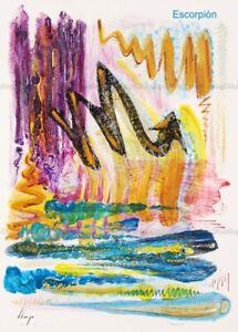 Llop - Escorpión (giclée Fine Art 45x33 Horóscopos)[edic limitada]