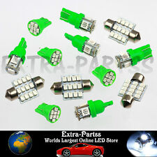 Bright Green 13PCS LED Lights Interior Package T10 & 31mm Map Dome License Plate