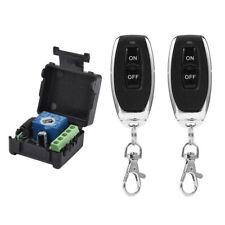 DC12V 1CH Relay Receiver RF Transmitter 433Mhz Wireless Remote Control Switch_