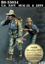 BRAVO-6 35034 U.S.Navy Seal (2) & LDNN 1/35 RESIN FIG.