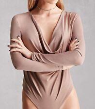 NUDE Marca collo a cappuccio manica lunga blush rosa pallido provocante body
