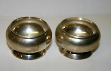 Vintage Silver plated Salt and Pepper pots perfect as Tea Light Candle Holders