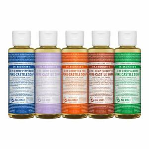 Dr. Bronner's 18-In-1 Hemp Pure Castile Liquid Soap with Organic Oils 4 fl oz