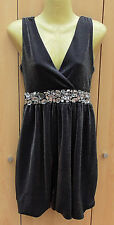 Ladies Silver & Black Party Dress Mini, Select, Size 10, VGC